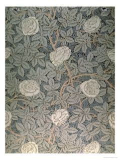Rose 90 Wallpaper Design Giclee Print by William Morris