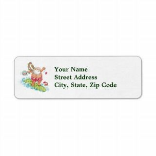 Vintage Christmas Cartoon Surfing Santa Claus Custom Return Address