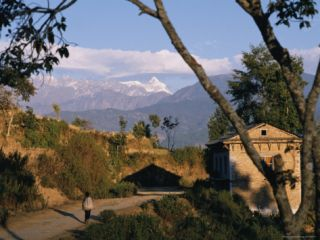 A Nepali Walks the Road to Dolakha Photographic Print by Michael S. Lewis
