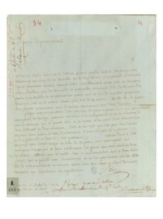 Petition by Aldonze Sade for employment, 1794 95 Giclee Print
