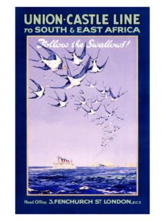 Union Castle Line to South Africa Giclee Print