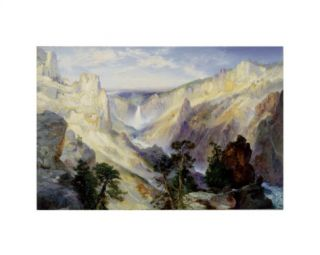 Grand Canyon of the Yellowstone, Wyoming, 1906 Giclee Print by Thomas Moran