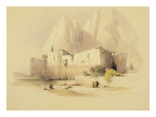 The Convent of St. Catherine, Mount Sinai, February 21st 1839, Plate 109 Giclee Print by David Roberts