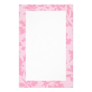 Pink floral pattern. stationery paper