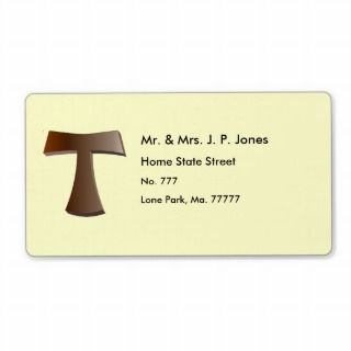 Tau Cross Address Labels