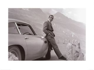 James Bond Aston Martin Poster Print