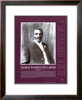 Great Black Innovators   George Washington Carver Pre made Frame