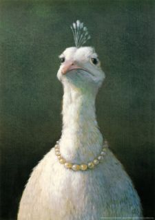 Fowl with Pearls Print by Michael Sowa