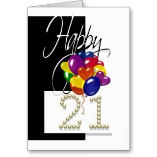 Cards, Note Cards and Funny 21st Birthday Greeting Card Templates