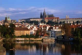 Prague Castle and Mala Strana (Small Quarter) Seen from Across Vltava River, Prague, Czech Republic Wall Mural – Large by Jonathan Smith
