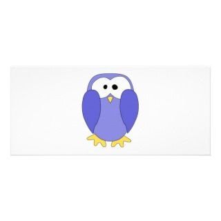 Cute Blue Penguin. Penguin Cartoon. Custom Rack Card