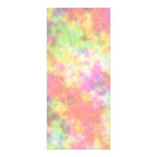 Rainbow Colors. Pretty, Colorful Clouds. Rack Card