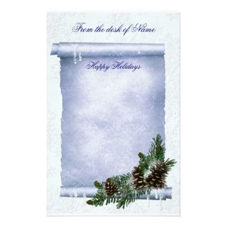 Stationary Holiday Christmas Stationery