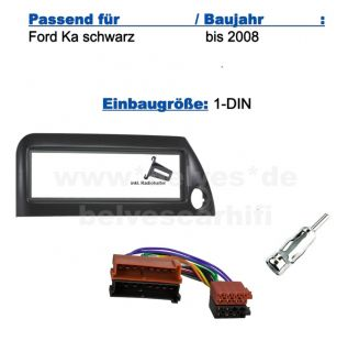 Adapter Ford Ka bis 2008 Blende schwarz SET 15 4975769396717