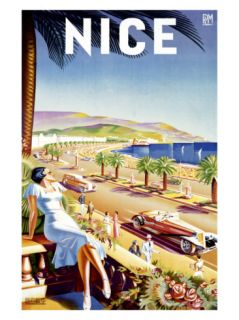 Nice, Riviera Beach Resort Giclee Print by Dhey