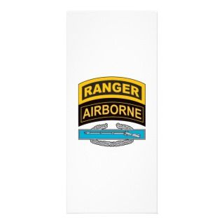 Combat Infantrymans Badge Ranger/Airborne Tab Customized Rack Card