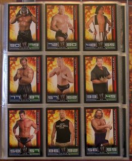 WWE WRESTLING SLAM ATTAX   KOMPLETT   MIT ALLEN SAMMELKARTEN / TRADING