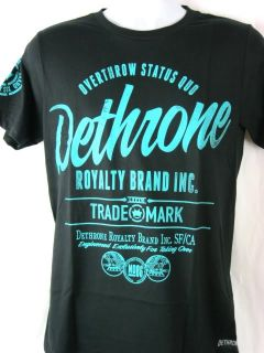 Dethrone Royalty Brand Overthrow Status Quo Black T shirt New