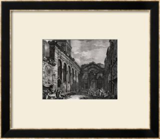 View of the Peristyle of the Palace of Diocletian (245 313), Roman Emperor 284 305, at Split Framed Giclee Print