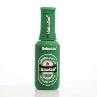 Beer Bottle Design Green 4GB/8GB/16GB USB Flash Memory Pen Drive Stick