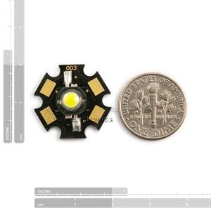 20 pcs New 1W High Power white Led Lamp Prolight Star