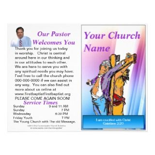 Customizable Weekly Church Bulletin (Inside Blank) by Churchsupplies