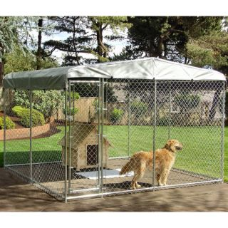 Kennel With Attached Dog House Cedar Floor Insulated Dog