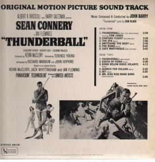 LP:John Barry,James Bond   Thunderball (United Artists)