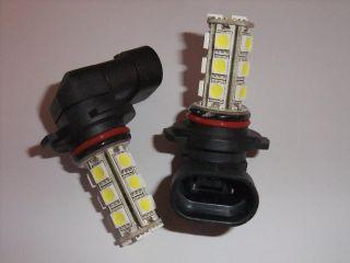 2X H10 18 SMD LED Xenon White Car Fog Light Bulbs 12V