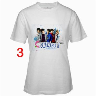 Shinee K Pop Fans T Shirt S 2XL   Assorted Style