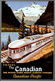 Canadian Pacific Train Framed Canvas Print by Roger Couillard