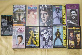 Elvis Presley VHS Video kleine Sammlung 11 Stück
