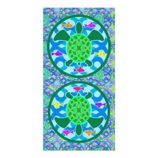 Green Sea Turtle Big Bookmark Picture Card
