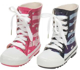 Up Wellies Pink Blue Boys Girls Childrens Size 8 9 10 11 12 13 1 2 3