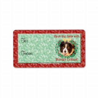 Border Collie Dog Christmas Gift Tags Personalized Address Labels