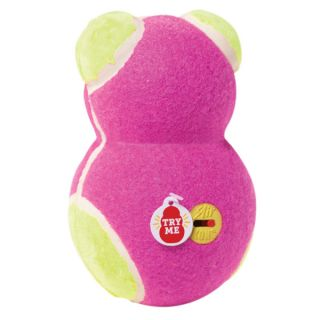KONG Off/On Squeaker Dog Toy   Pink/Green Bear