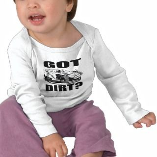 Dirt Track Racing Baby Shirts, Dirt Track Racing T Shirts for Babies