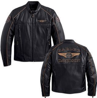 Harley Davidson Mens Limited Edition 110th Anniversary Leather Jacket