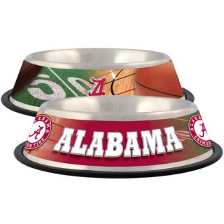 Alabama Crimson Tide Stainless Steel Pet Bowl   Team Shop   Dog
