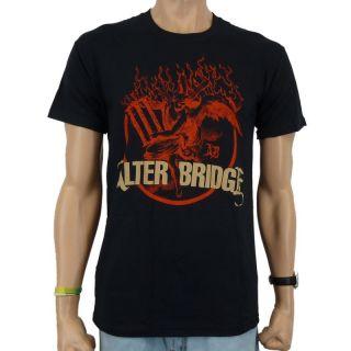 Alter Bridge   Flames Band T Shirt, schwarz