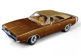 AUTOWORLD 1:18 SCALE BRONZE METALLIC 1969 DODGE CHARGER R/T