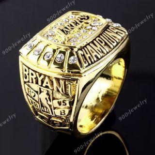NBA 2000 Los Angeles Lakers Kobe Bryant Championship Mens Ring Replica