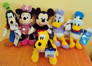 Stoff Disney Micky Mickey Maus Minnie Mouse Daisy Donald Goofy Pluto