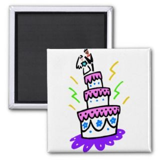 Abstract Wedding Cake Magnet