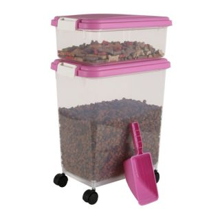 Iris Airtight Pet Food Storage Container   Pink