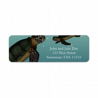 Sea Turtles Custom Return Address Labels