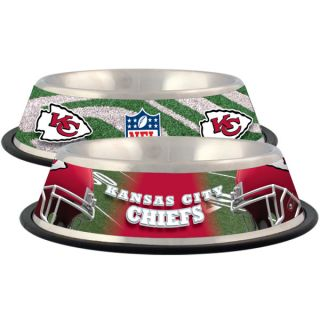 Kansas City Chiefs Stainless Steel Pet Bowl   Team Shop   Dog