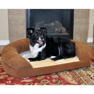 K&H Pet Products Ortho Bolster Sleeper   Brown