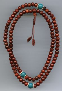 Mala aus Rosenholz Perlen Mantra Armband Buddha Tibet 22