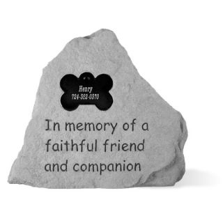 Kay Berry In Memory of.Personalized Dog Memorial Stone with Bone   Pet Memorials   Dog